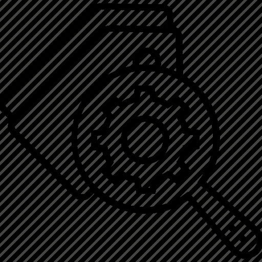 cogwheel, keywording, optimization, seo, seo tags optimization icon