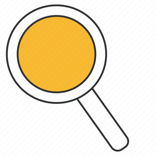 find, magnifier, magnifying glass, scan, search, zoom icon
