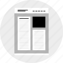column, double, mockup, website, wireframe icon
