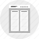 double, mockup, post, website, wireframe icon
