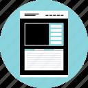 large, mockup, photo, webpage, website, wireframe icon