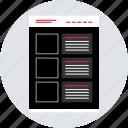 blog, mockup, post, webpage, website, wireframe icon