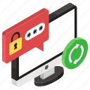 encrypted chat, reset password, restore password, secure chat, sync passcode, update password