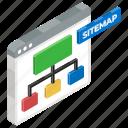 algorithm, flow diagram, flowchart, hierarchy, information architecture, scheme, website sitemap icon