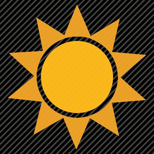 sun, technology, web icon