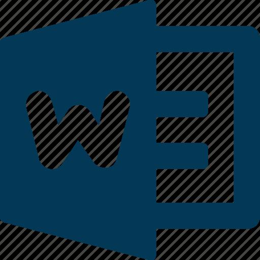 computer programme, microsoft, microsoft word, ms, word document icon
