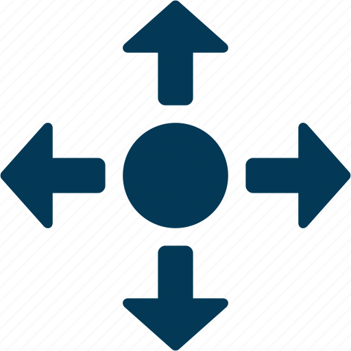 arrows, four way, road intersection, road sign, traffic sign icon