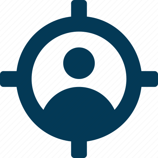 audience, focus, marketing, seo, user target icon