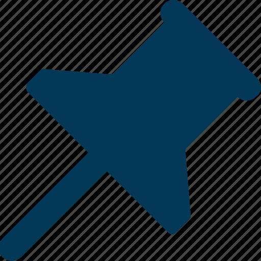 Noticeboard pin, pin, push pin, tack pin, thumb tack icon - Download on Iconfinder