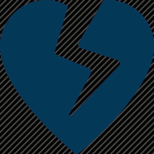 Breakup, broken heart, heart, heartbreak, hurt icon - Download on Iconfinder