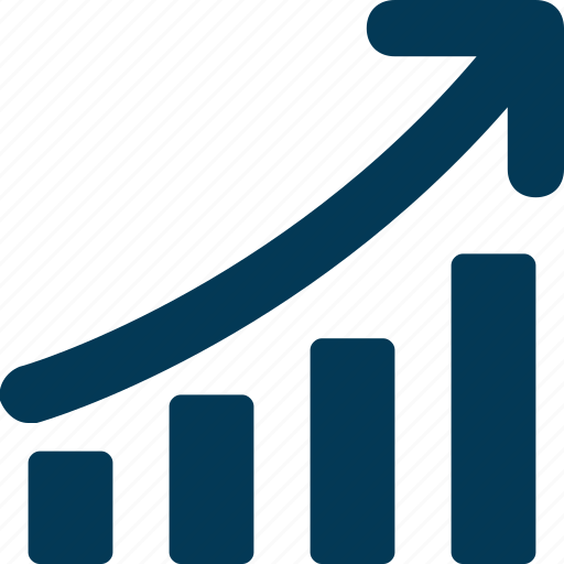Bar chart, growth chart, infographics, line graph, progress chart icon - Download on Iconfinder