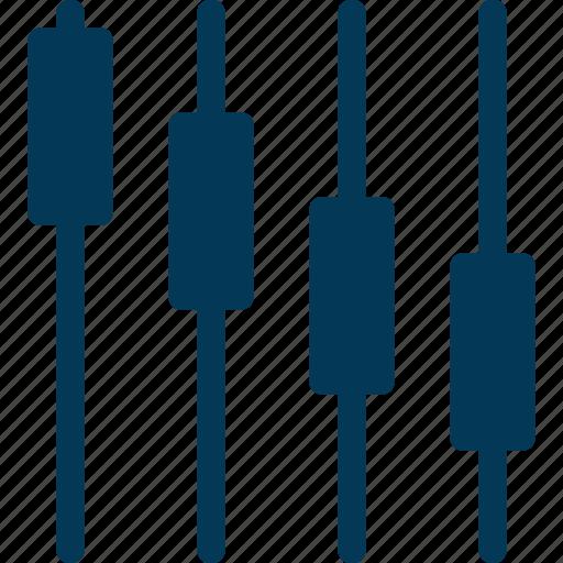 analytics, multimedia, preferences, sound settings, volume adjuster icon