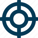 bullseye, circle, dartboard, shape, target icon