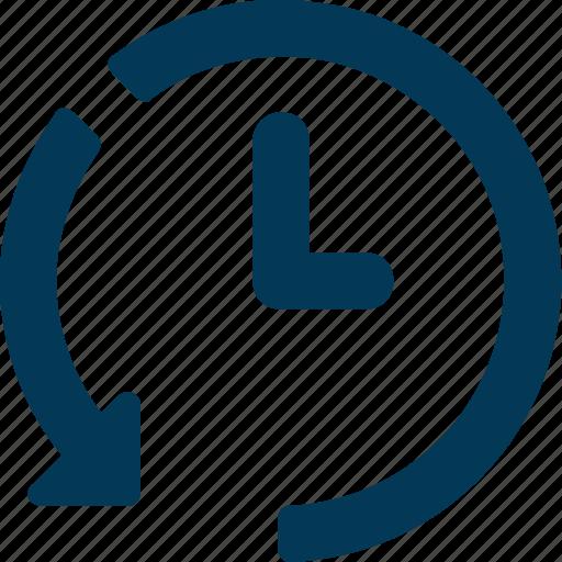 anticlockwise, clock, clockwise, time, timer icon
