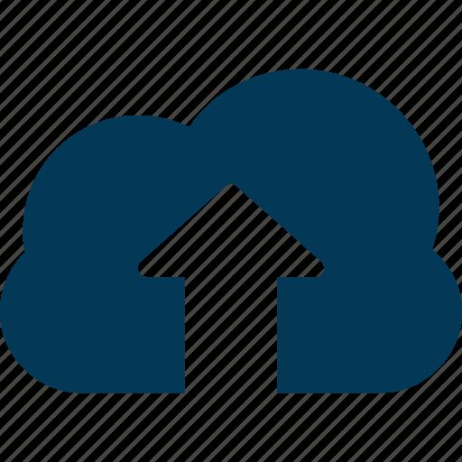 cloud computing, cloud storage, cloud upload, computing, uploading icon