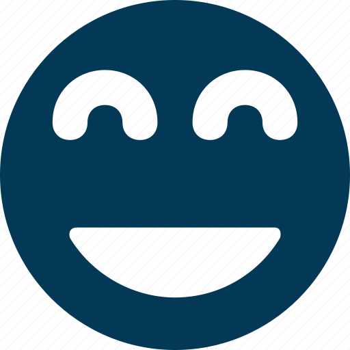 cheerful, happy, laughing emoticon, pleased, smile icon