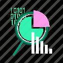 analysis, analytics, data, development, optimization, research, website icon