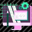 developer, development, programming, ui, ux, web, website icon