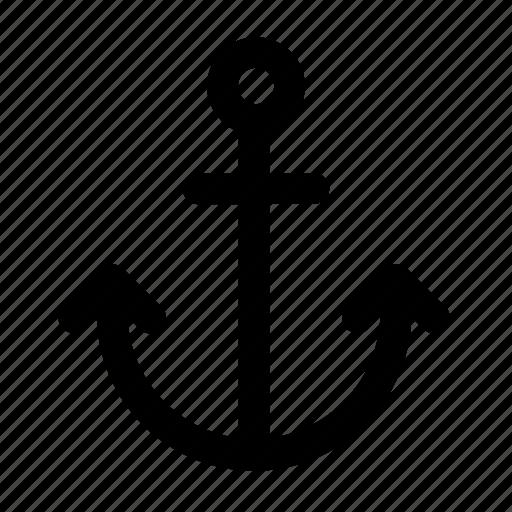 anchor, boat, boat anchor, nautical, sea, sea anchor, ship, stopper icon