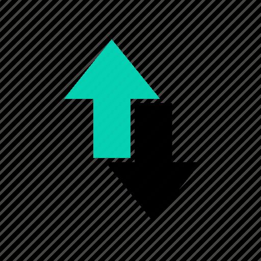 arrow, connection, down arrow, network, social, up arrow, web icon