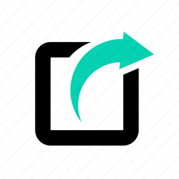 business, internet, network, overflow, right arrow, upload, web icon