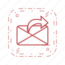 communication, mail, message, send message icon