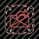 communication, message, send message icon