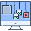 computer, design, gallery, layout, page, web, website icon