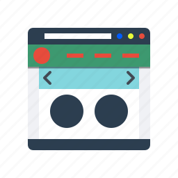 browser, internet, layout, page, web, website, website icon icon