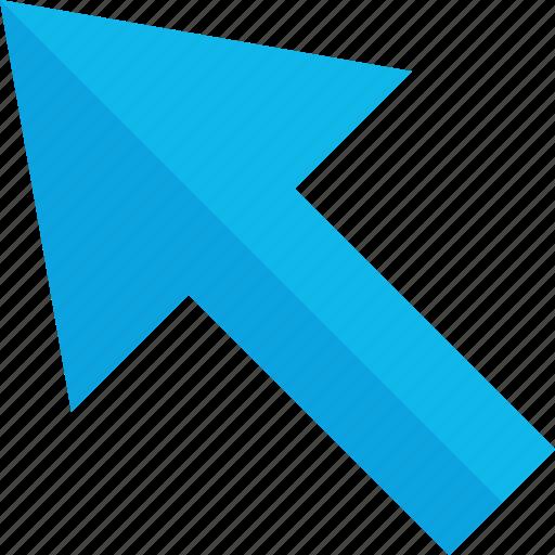 arrow, point, up, web icon