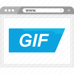 extension, gif, motion, www icon