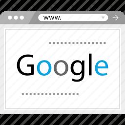 analytics, google, search, web icon