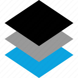 design, layers, three, web icon