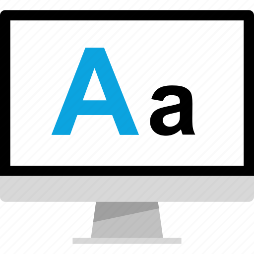 edit, lettering, pc, text icon