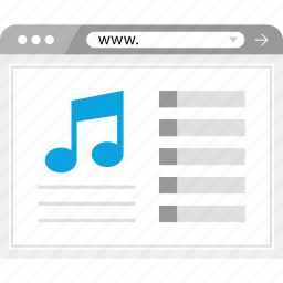 music, web, www, youtube icon