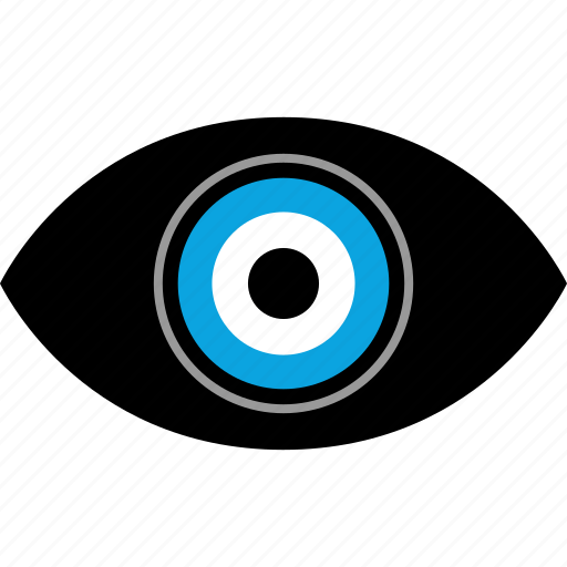 eye, eyeball, views, watch icon