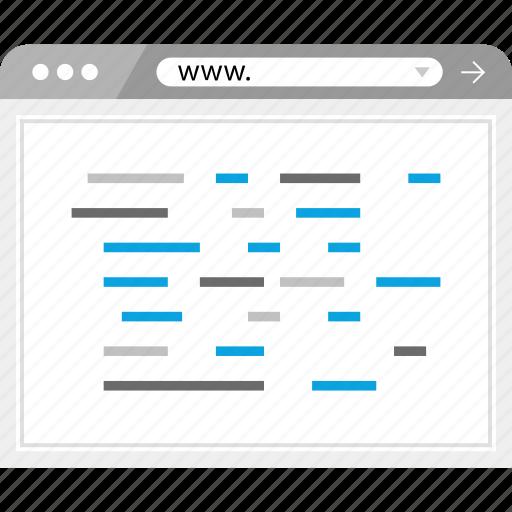 dev, development, web, www icon