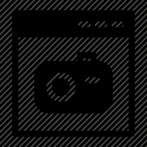 browser, camera, coding, photo, web design icon