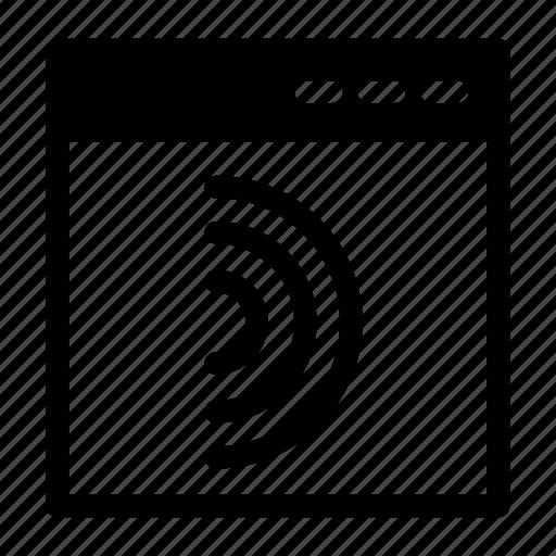 browser, coding, share, social, web design icon