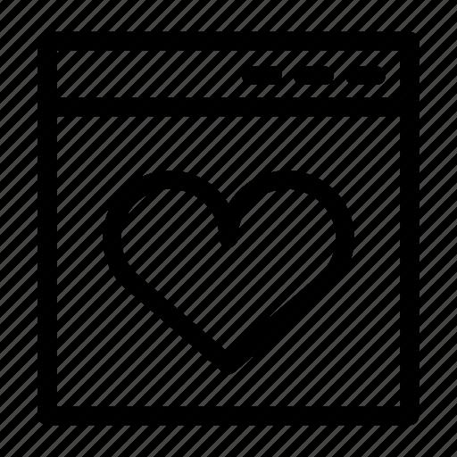 browser, coding, favorite, love, page, web design icon