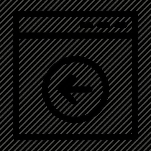 arrow, browser, coding, next, page, web design icon