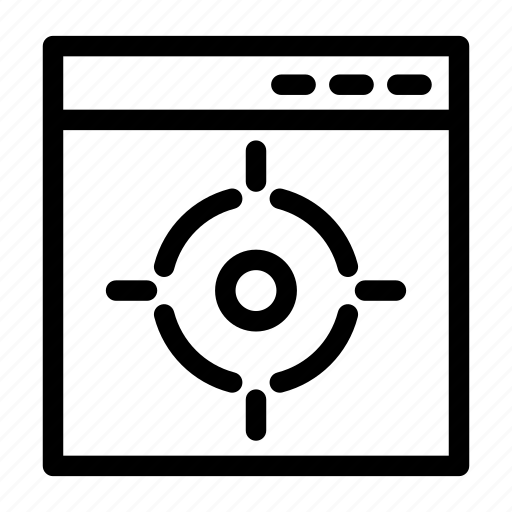 Browser, coding, goal, target, web design icon - Download on Iconfinder