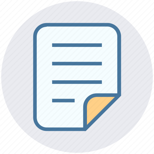 Document, file, list, note, page, paper, report icon - Download on Iconfinder