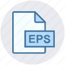 document, eps, extension, file, file formate, illustrator, vector format icon