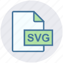 document, extension, file, file format, format, svg file icon