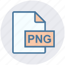 document, extension, file, format, image, png file icon