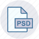 adobe, file, file extension, file format, file type, photoshop, psd