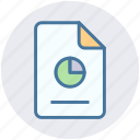 analytics, chart, document, file, graph, paper, presentation icon