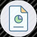 analytics, chart, document, file, graph, paper, presentation