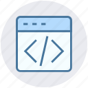 code, development code, html, html code, page, web, web development icon